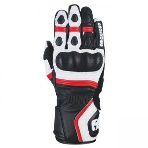 Мотоциклетни кожени ръкавици Oxford RP-5 2.0 White/Black/Red S