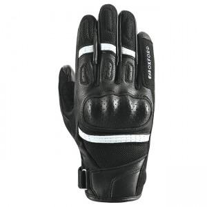 Мотоциклетни кожени ръкавици Oxford RP-6S Black/White XL