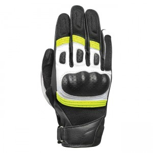 Мотоциклетни кожени ръкавици Oxford RP-6S Black/White/Fluo XL